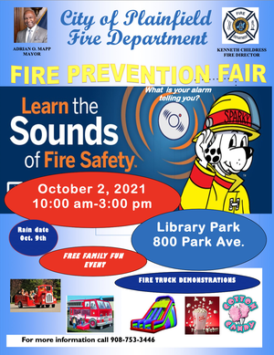 Save the Date for the Plainfield Fire Prevention Fair