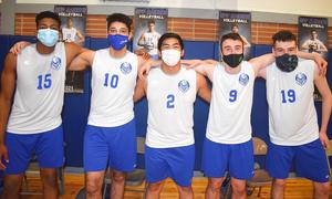 Scotch Plains-Fanwood boys volleyball seniors.