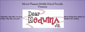 "Mt. Pleasant Middle School to Present Outdoor Spring Musical ""Dear Edwina Jr."""