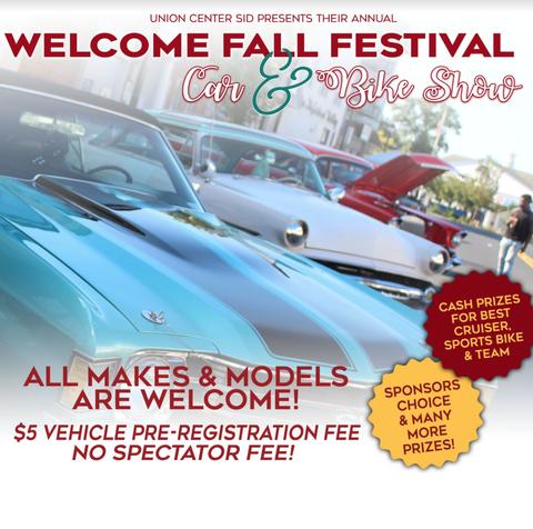 Union's Fall Festival Car & Bike Show Set for Sept  28