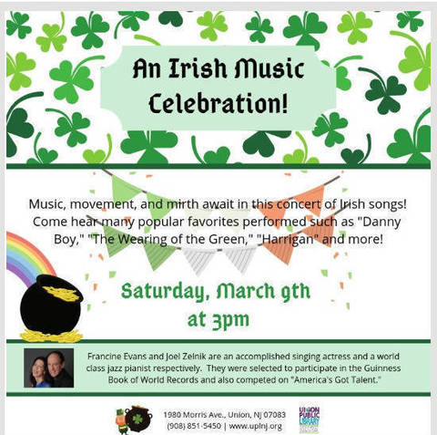 An Irish Song Celebration at the Union Public Library | TAPinto