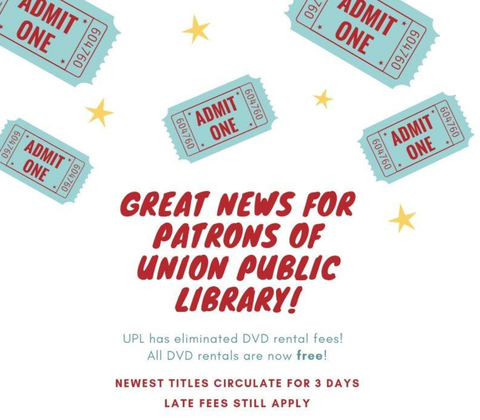 Union Public Library Announces No Fee Loans For More than