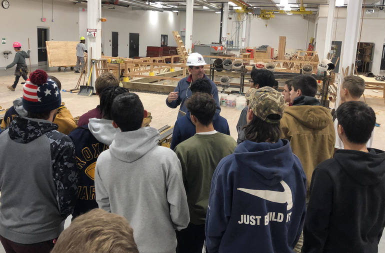 In Class Trip, Roxbury Students Learn About Carpentry Careers