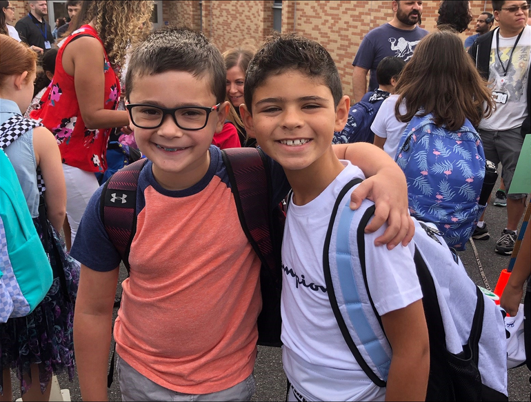 Scenes from the first day of school in Scotch Plains-Fanwood.
