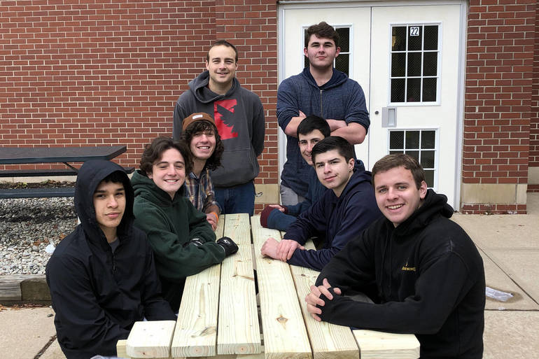 SDF Crew at LRS on one of their finished benches1.jpg