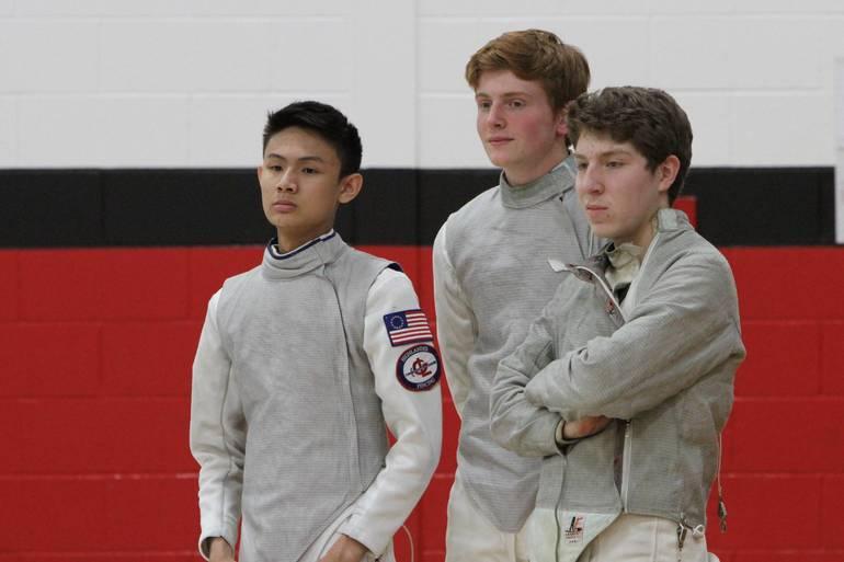 Seniors Matt Man, Lucas Piccininni, and Chris Poulos at West Essex.jpg