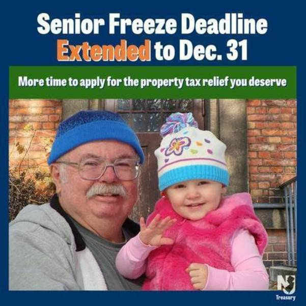 Senior Freeze Deadline for Nutley Homeowners Extended to December 31, 2020