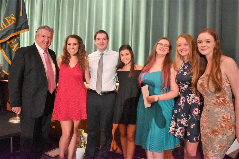 Senior Awards 2019.Rockaway Rotary Scholarships and Rotary Club of Denville AR Spinola College Assistance Grant.JPG