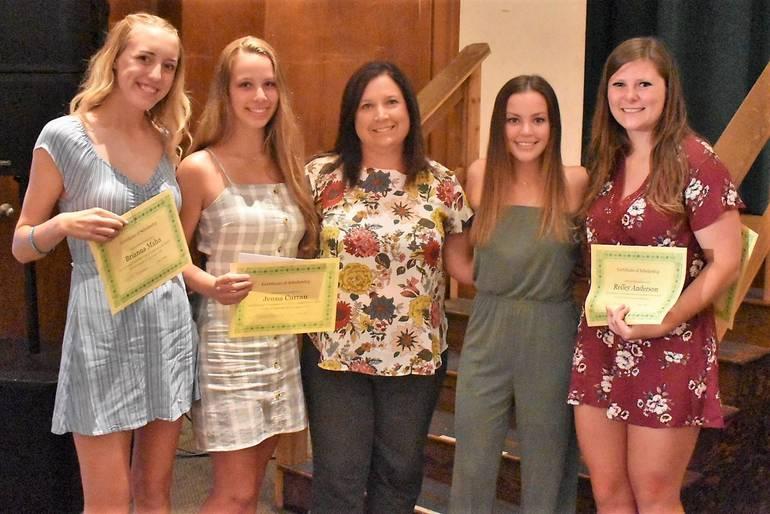 Senior Awards 2019.Morris Knolls Girls Lacrosse Booster Club and Field Hocky Booster Club Scholarships.JPG