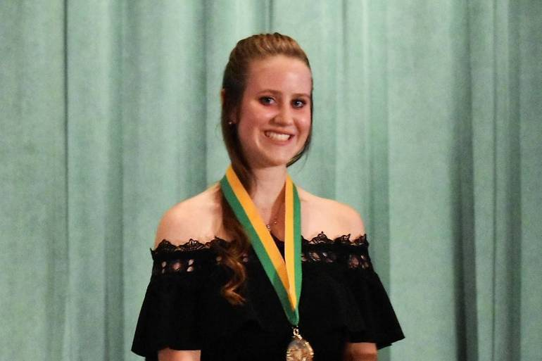 Senior Awards 2019.Valedictorian Hannah Fortune.JPG