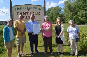 Carousel image 4d6ff03cbc8ed74055a4 sen. borrello presents proc to canticle farm
