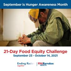 Hunger Awareness Month, Clara Maass Medical Center, RWJBarnabas Health