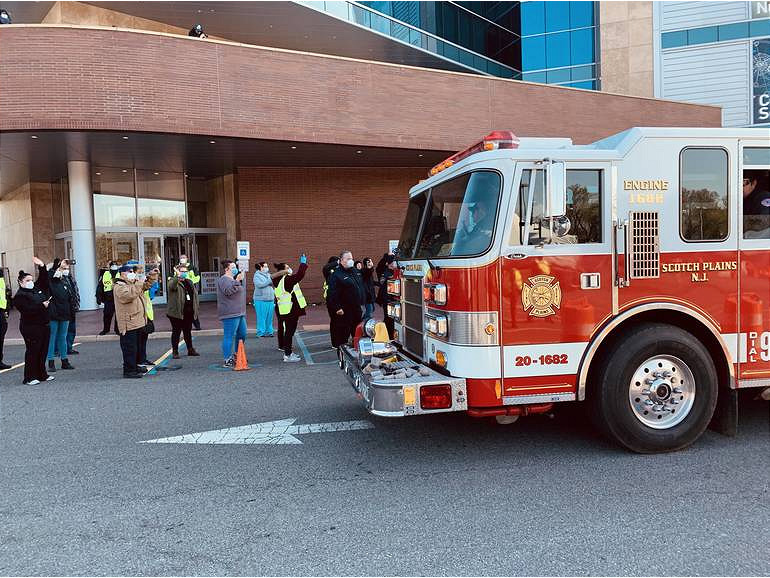 SFD Drive-By at Kean COVID testing center.png