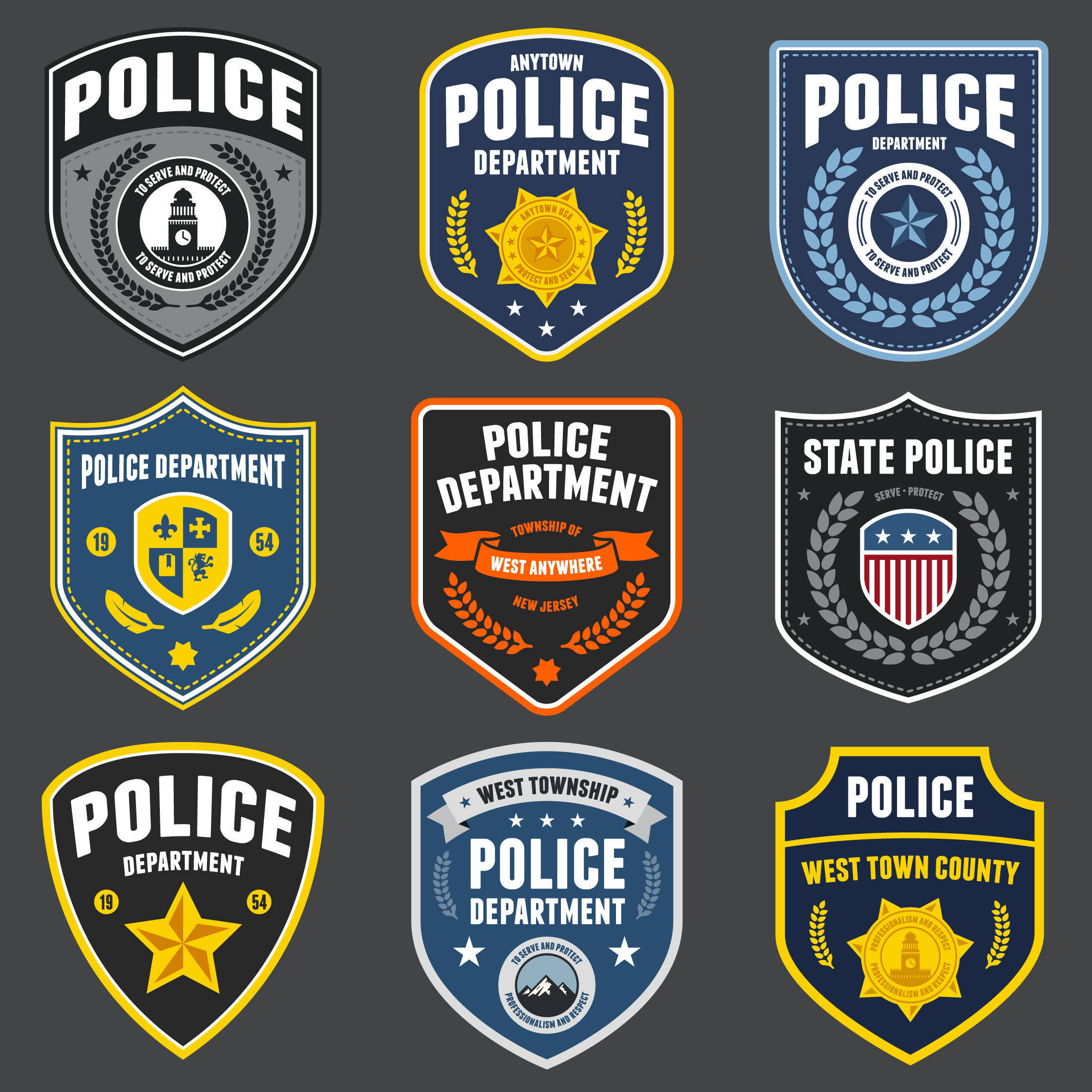 shutterstock_131312288 police patches and emblems.jpg