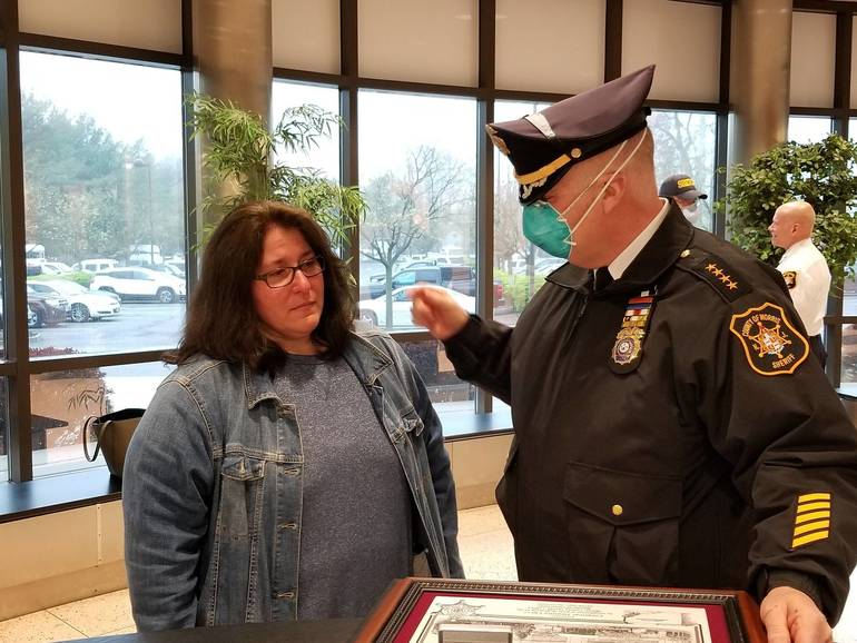 Sheriff James Gannon with Corporal Deanna Cucci Morris County Sheriff's Office 1.jpg