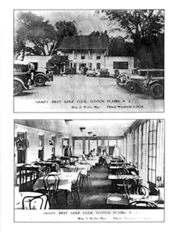 Postcards of the historic Shady Rest Clubhouse in Scotch Plains.