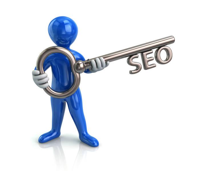 Lower Merion Digital marketing keyword blue figure holding silver key with the word SEO as the locking method.jpg