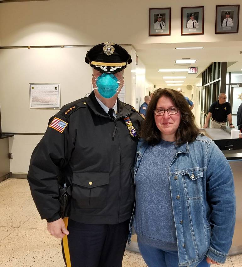 Sheriff James Gannon with Corporal Deanna Cucci Morris County Sheriff's Office.jpg
