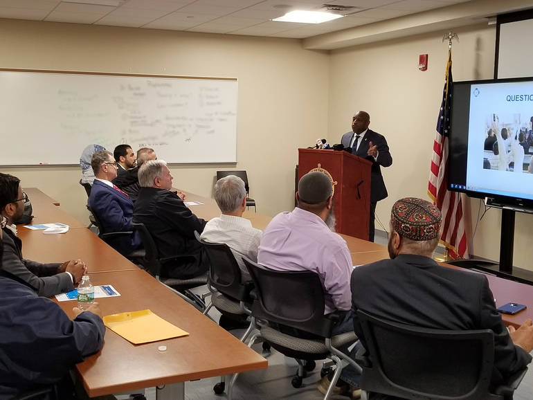 Sheriff Anthony Cureton Addressing leaders of Law Enforcement and the lo....jpg