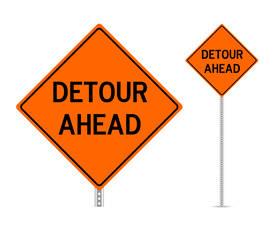 Carousel image 1fa4b59bd153f0afe558 shutterstock 407640463 detor ahead sign
