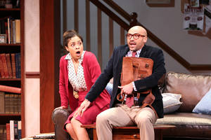 Carousel image 32c61a4d82841e2c9868 shay vawn and jevon mcferrin in ken ludwig s the gods of comedy. photo by tom miller