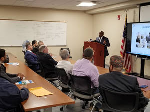 Carousel image e96d242434ef050041b2 sheriff anthony cureton addressing leaders of law enforcement and the lo...