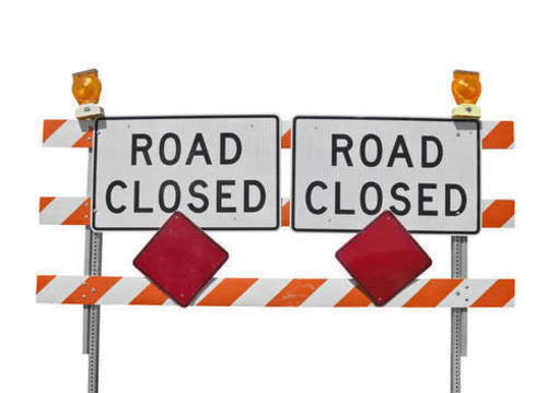 Top story c1b99909e7d9e82ef059 shutterstock 81437536 road closed two sign