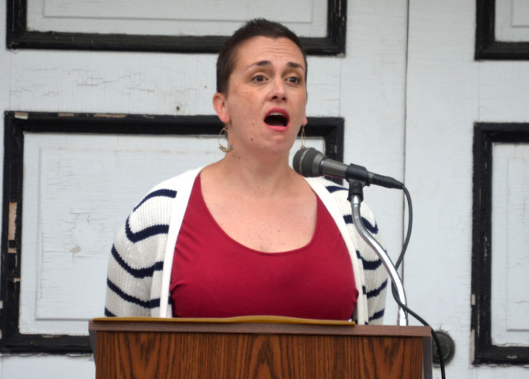 Andrea Kelly of Fanwood sang the national anthem.