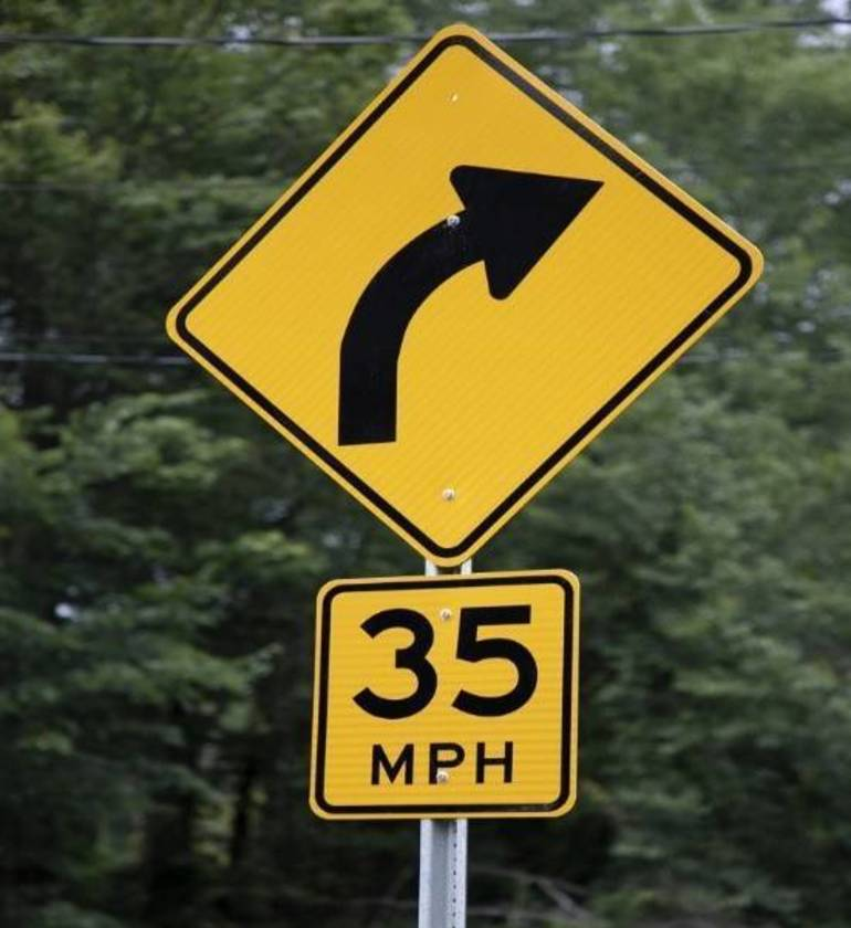 COUNTY TO BEGIN COMPREHENSIVE UPGRADE TO ROAD CURVE WARNING SIGNS