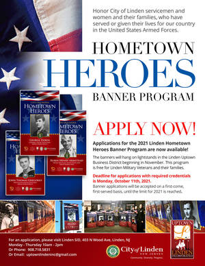 Linden Now Accepting Applications for the Hometown Hero Banner Program