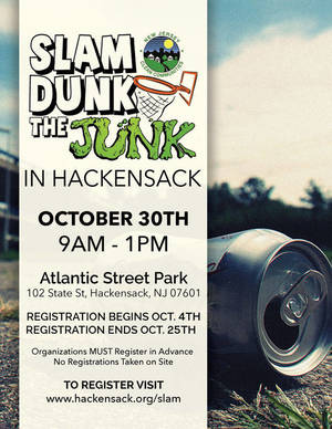 City of Hackensack Offering $500 to Organizations who 'Slam Dunk the Junk'