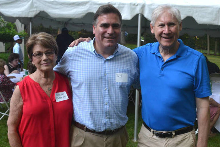Scotch Plains Republican chair Paulette Coronato with Councilman Ted Spera and Mayor Al Smith