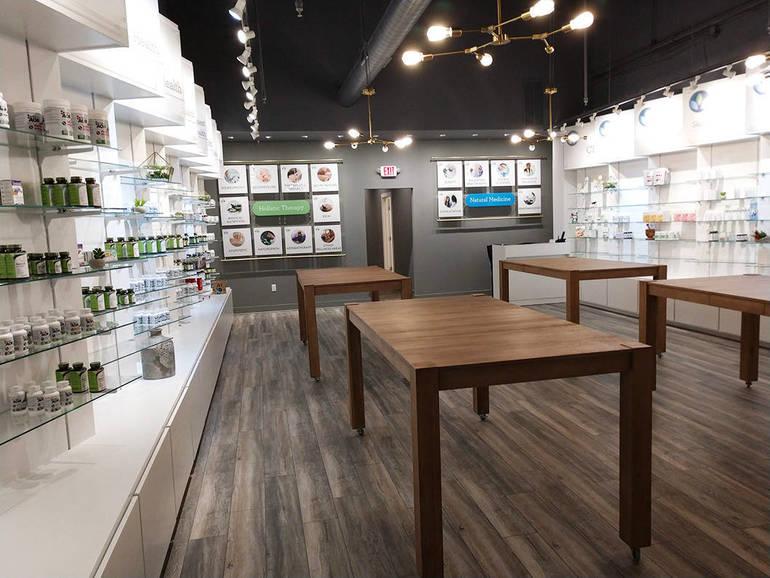 Deep Wellness Center Natural Medicine retail interior.