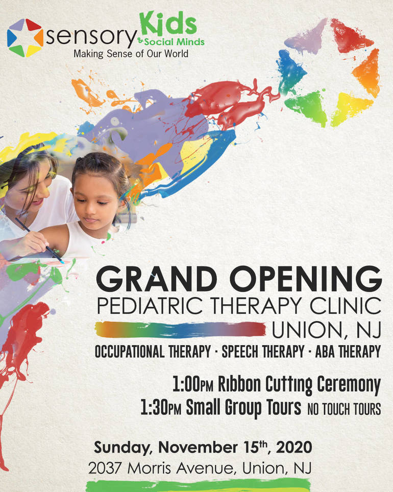 Sensory Kids & Social Minds:  Grand Opening Nov. 15