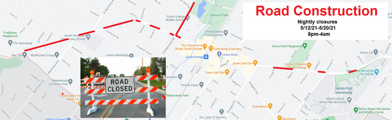 Milling and Paving Will Cause Nightly Road Closures on South Orange Avenue