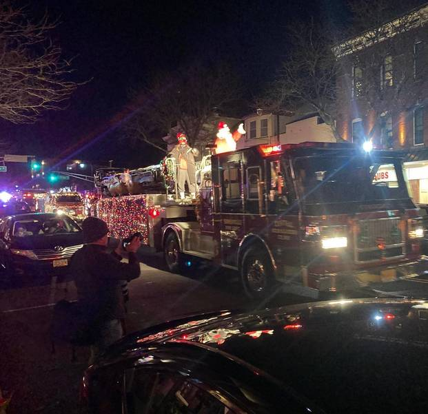 New Jersey Firefighters Escort Santa in Annual Somerville Parade