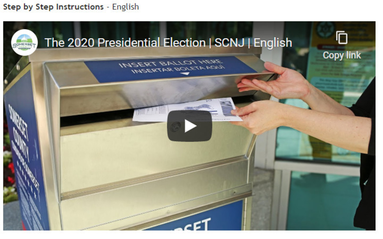 Somerset County Clerk Releases Step-By-Step Vote by Mail Tutorials