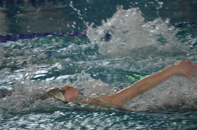 Scotch Plains-Fanwood's Lily Hughes swims in the 100 Backstroke at the NJSIAA Meet of Champions.