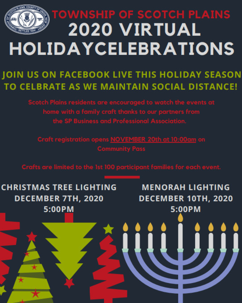 Scotch Plains to Host Virtual Celebrations This Holiday Season