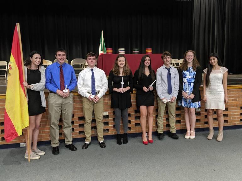 Scotch Plains-Fanwood High School Spanish Honor Society 2019 inductees.