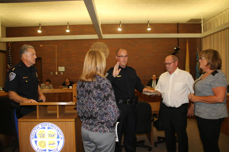 Three New Police Officers Sworn In for South Brunswick Police Department