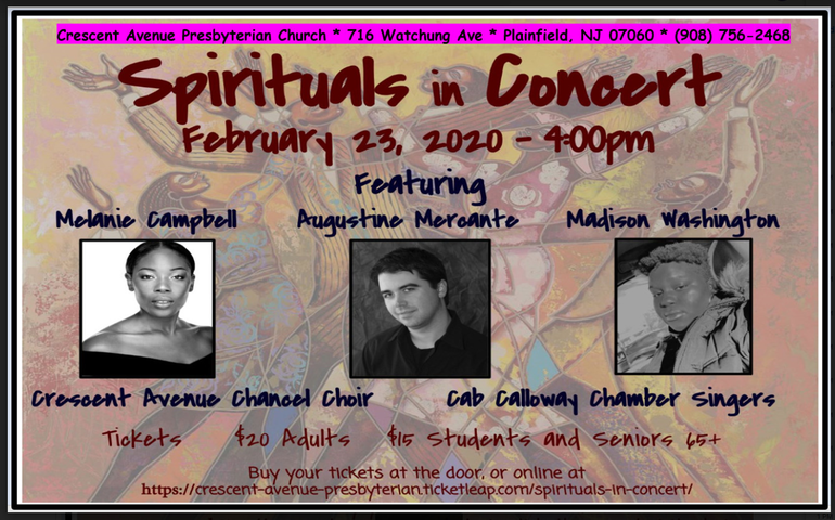 Spirituals Concert at Crescent Avenue Presbyterian Church