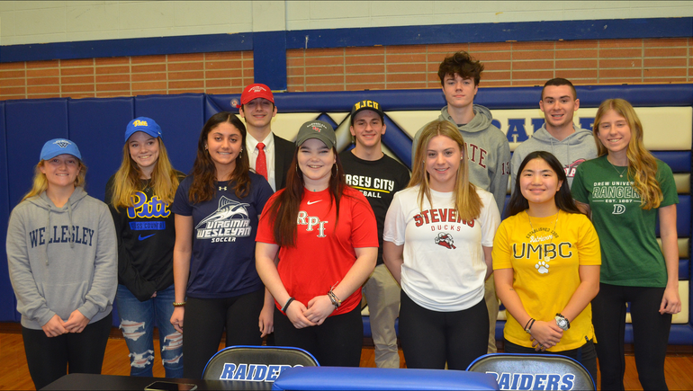 Scotch Plains-Fanwood Signing Day seniors who will continue their athletic careers in college.