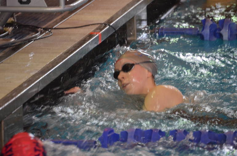 Scotch Plains-Fanwood's Julia Bonhote swims in the 50 Freestyle at the NJSIAA Meet of Champions.