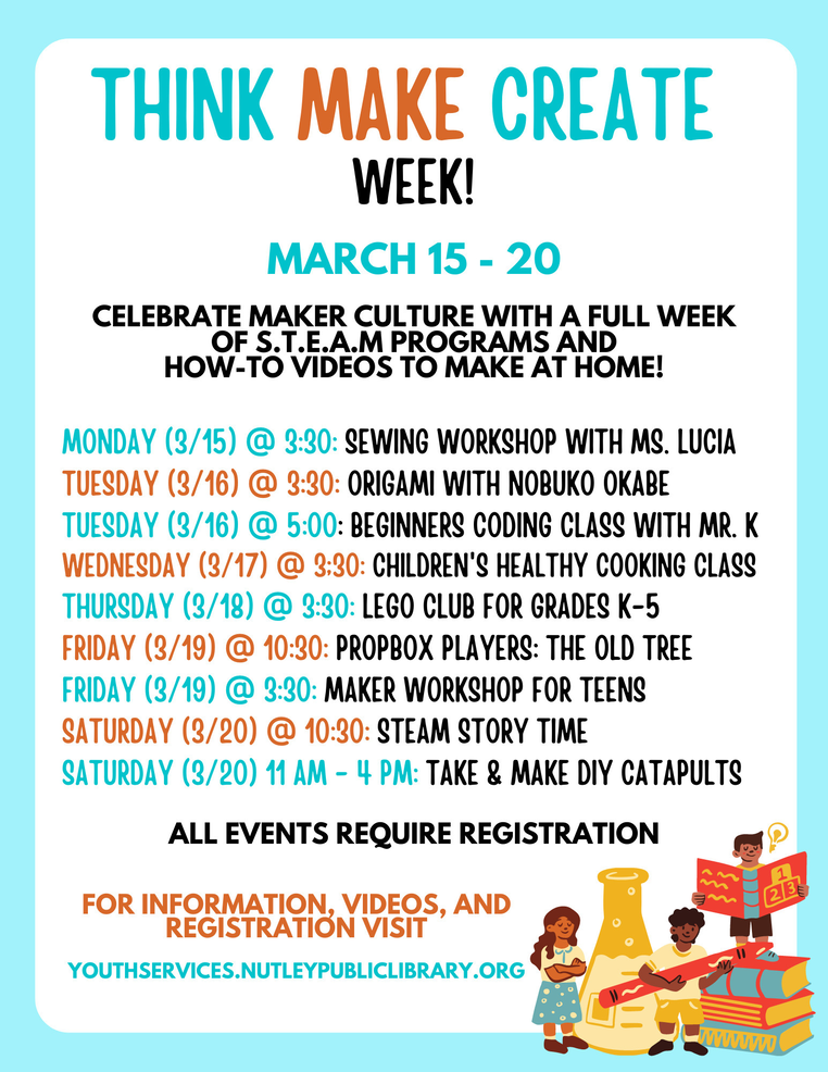 Think Make Create Week at Nutley Public Library