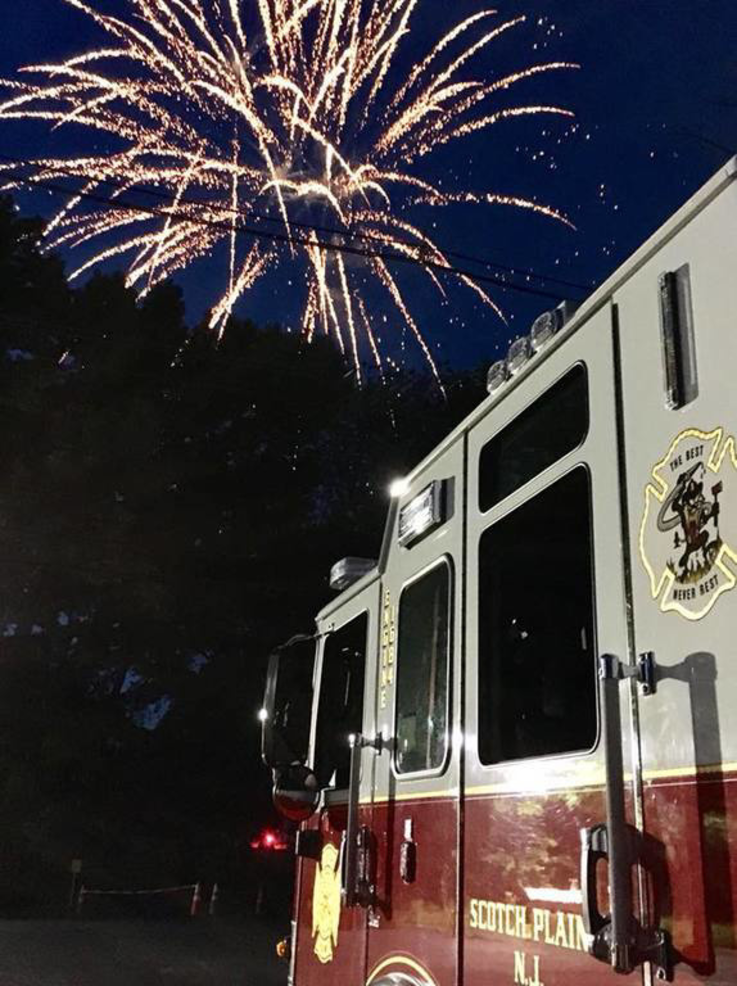 Fourth of July fireworks in Scotch Plains