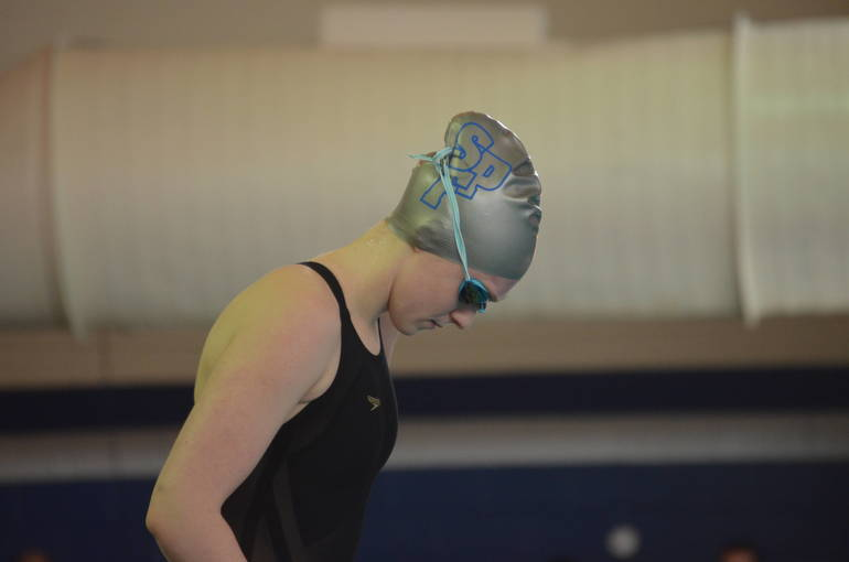Abby Ryan of Scotch Plains-Fanwood readies for the 200 Freestyle.
