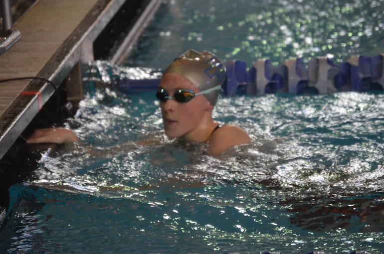 Abby Ryan of Scotch Plains-Fanwood finishes the 200 Freestyle.