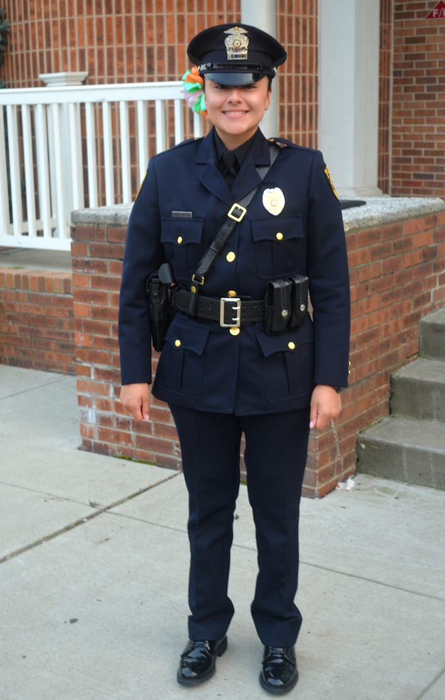 Scotch Plains police department's newest officer, Valerie Aguirre.