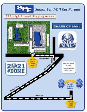 Scotch Plains-Fanwood High School Senior Send-Off Parade will be Thursday, July 17, at 4 p.m.